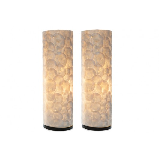Villa Flor Tafellamp Full Shell Cilinder 55 cm set van 2