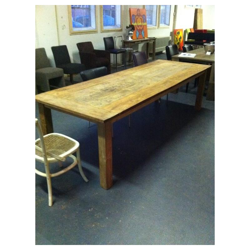 Houten eettafel oud hout houten eettafels - Eettafel en houten eetkamer ...