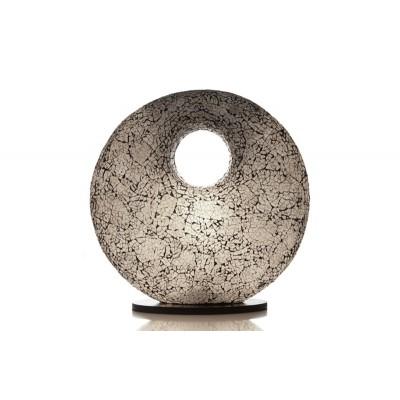 Tafellamp Glass White Donut