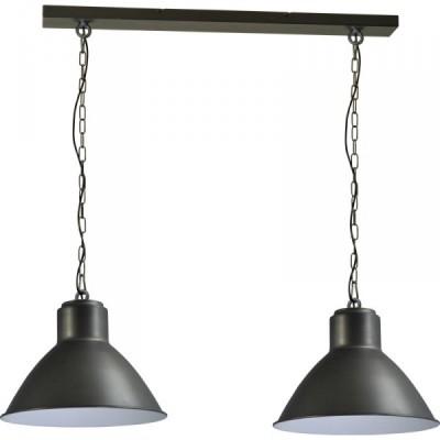 Hanglamp Gunmetal White Industria 2011 Masterlight 2011-30-H-130-2