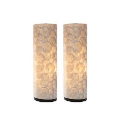 Tafellamp Full Shell Cilinder 55 cm set van 2