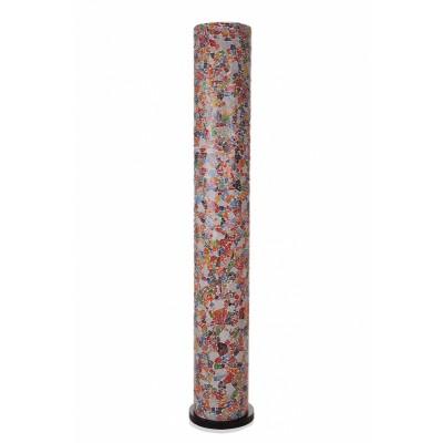 Villa Flor Vloerlamp Glass Multicolor Cilinder 200 cm